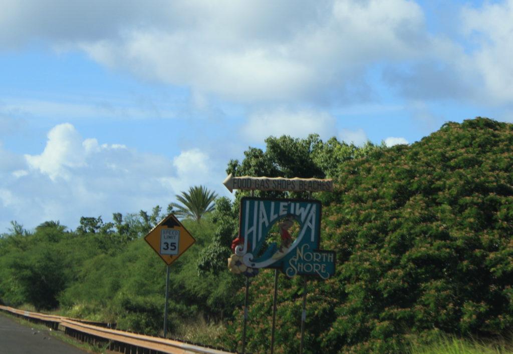 Haleiwa Ortsschild