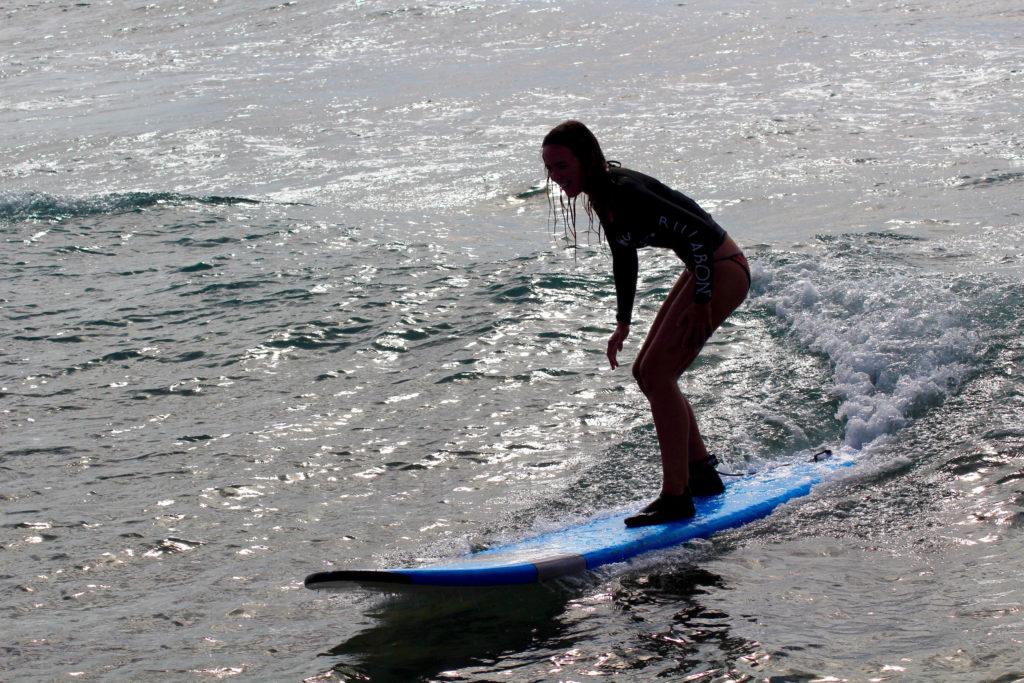 Interview Janina|ferntastisch: erste Surfversuche