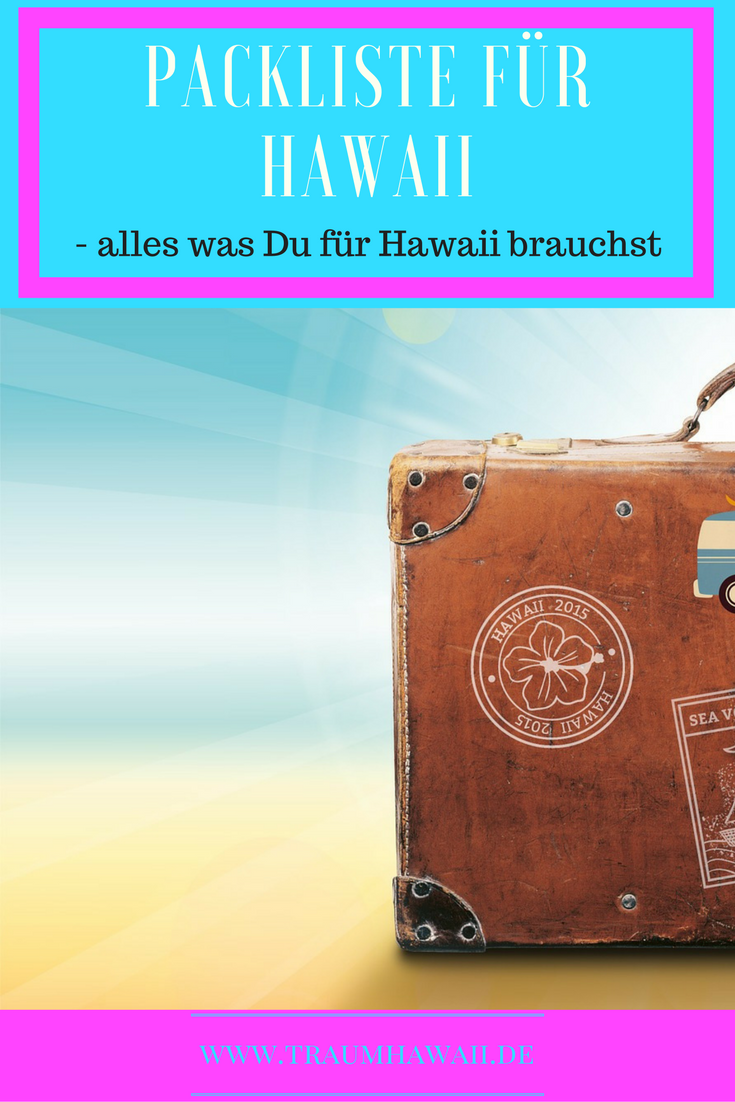 Packliste für Hawaii: Pinterest
