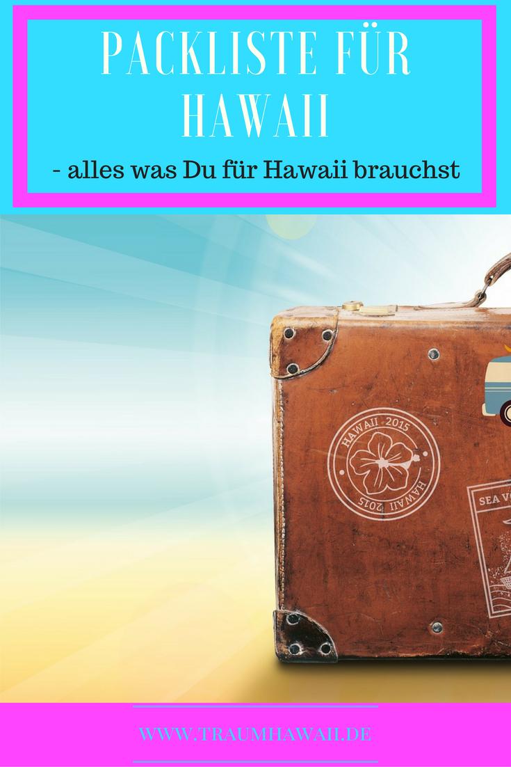 Packliste für Hawaii: Pinterest