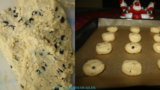 Macadamia-Schoko-Cookies - Teig