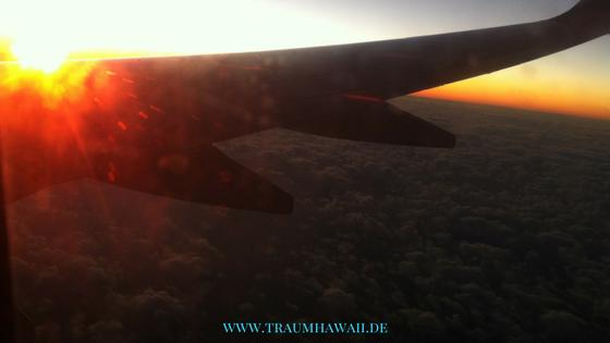 Flug nach Hawaii