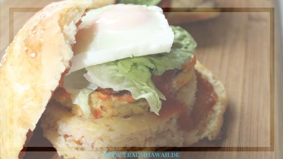 Loco Moco Burger Hawaiianisches Frühstück Als Leckeres Mittagessen